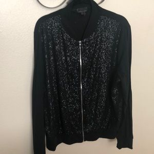 🌞 Sequin bomber jacket